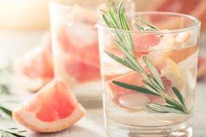 Summer refreshing drink and ingredients