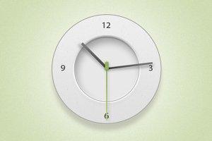 Minimal Clock Icon