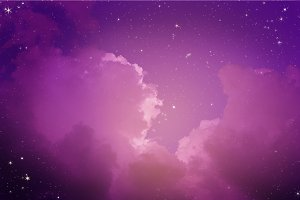 Fantastic night sky