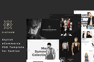 Platinum - Stylish ecommerce PSD