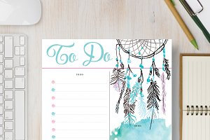 To Do Planner: A4 & A5