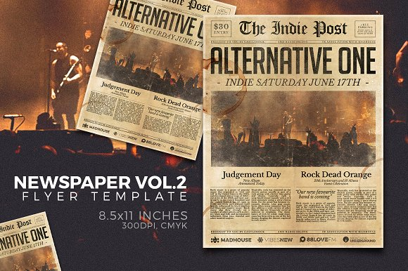 newspaper flyer template vol 2 flyer templates creative market