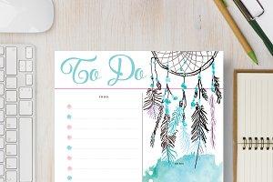 To Do Planner: Half Letter & Letter