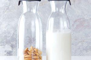 fresh homemade almond milk