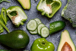 Green vegetables composition