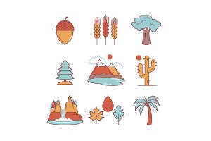Nature and forest icons
