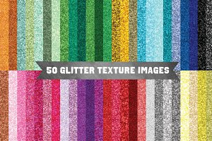 Pack of 50 Glitter Textures