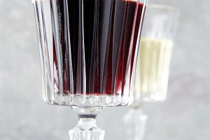 red wine in a beautiful glass.