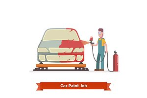Specialist spray painting auto