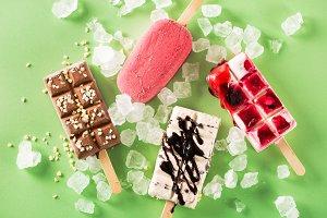 Variety of Ice Cream sticks