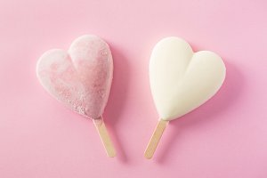 Heart shape popsicles
