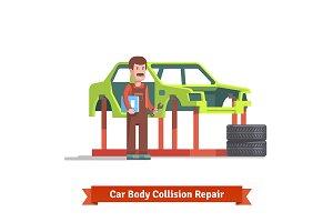 Collision repair center