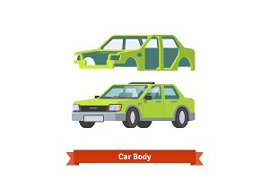 Car body and sedan auto