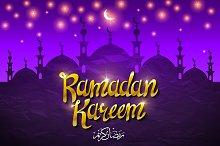 Ramadan Kareem. Vector i