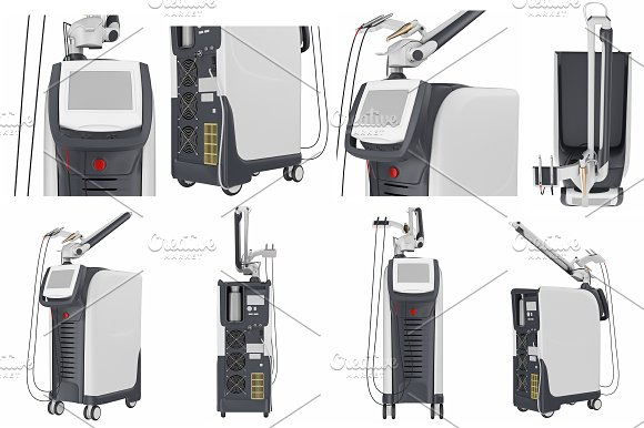 Set medical laser device, isolated