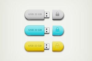 Colourful USB Drive Icon