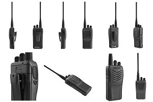 Set portable radio, isolated
