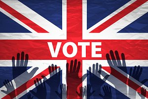 vote. flag of the United Kingdom