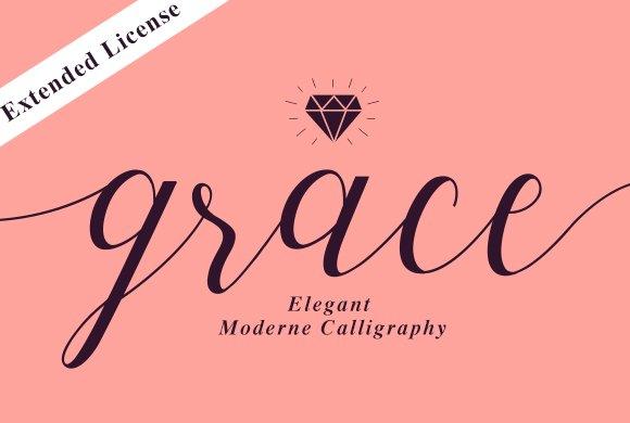 Grace Elegant Script Fonts Creative Market