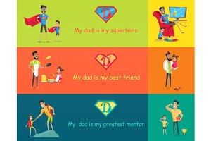 Super Dad with his Kids