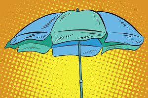 Beach umbrella blue green