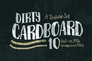 Dirty Cardboard Texture Set