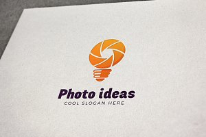 Photo Ideas Vector Logo Template
