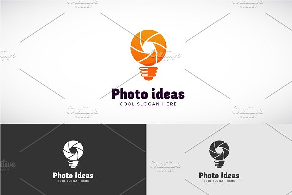Photo Ideas Vector Logo Template in Logo Templates - product preview 1