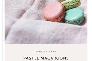 7 Stock Photos Pastel Macaroons