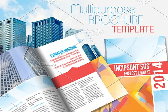 InDesign Brochure Template V Brochure Templates Creative Market - Indesign brochure template