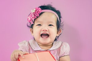 laughing baby,cheerful