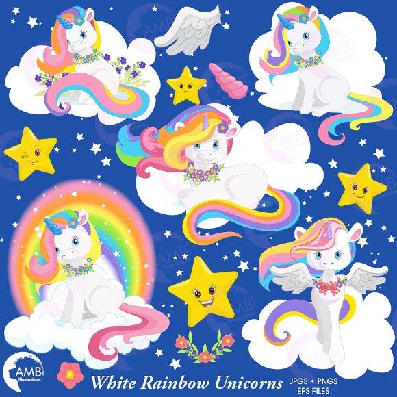 Rainbow Unicorns, 1382 ~ Illustrations on Creative Market