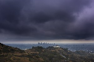 Griffith Park Observatory and DTLA