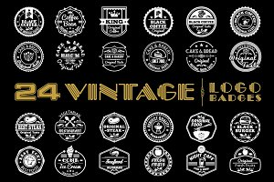 24 Vintage Logo Badges