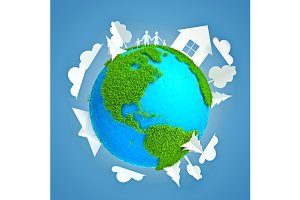 Eco earth 3d render