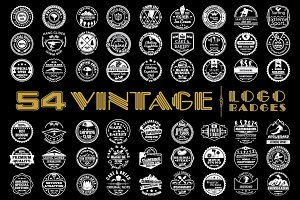 54 Vintage Logo Badges