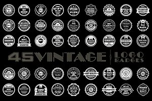 45 Vintage Logo Badges