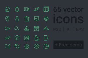65 line vector icons
