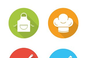 Chef tools icons. Vector