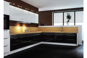 Kitchen. The modern kitchen