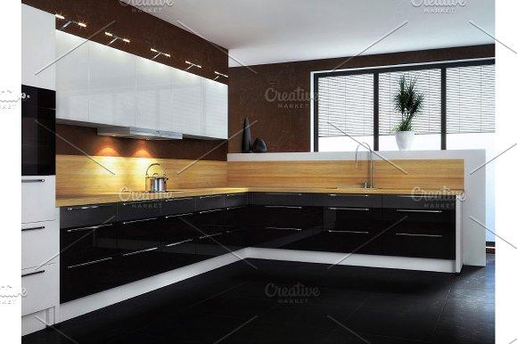 Kitchen. The modern kitchen - Illustrations