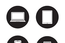 Modern gadgets icons. Vector