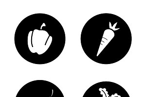 Vegetables icons. Vector