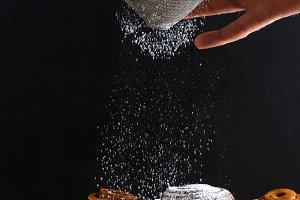sprinkle with powdered sugar