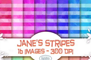Watercolor Seamless Striped Pattern