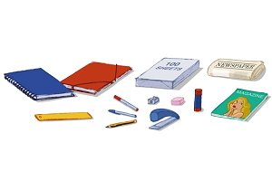 Stationary shop products