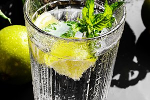 drink,lime and mint