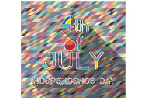 4th July with pattern background