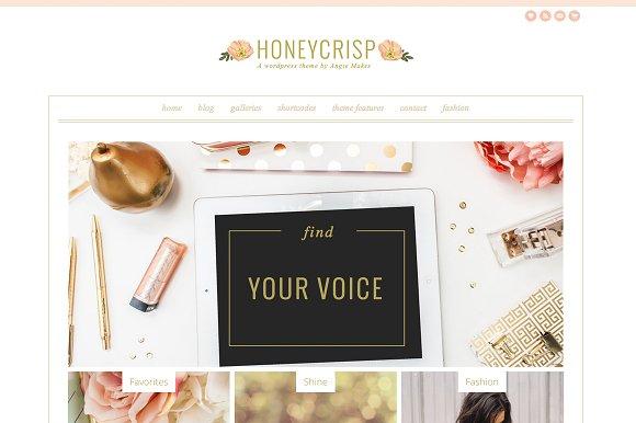 honeycrisp a pretty wordpress theme wordpress commerce themes