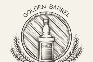 Whisky distillery emblem